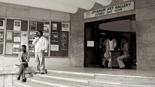 Jehangir Art Gallery entrance in Mumbai, India