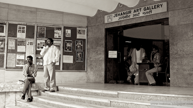 Jehangir Art Gallery entrance in Mumbai, India