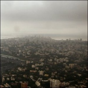 Rainy day in Mumbai in 2006,view from airplane heading towards Goa. Click the image and you will get to see the actual video from this flight.