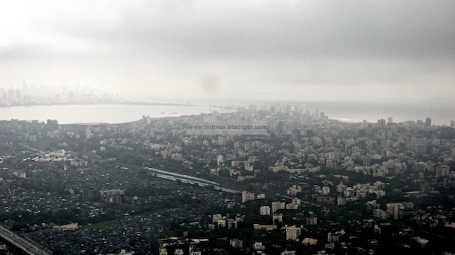 Mumbai view from the airplane in 2006