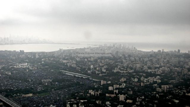 Mumbai seen from the sky