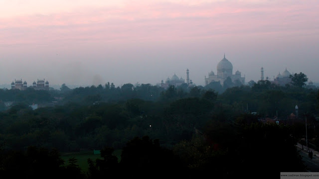 Taj Mahal after sunset
