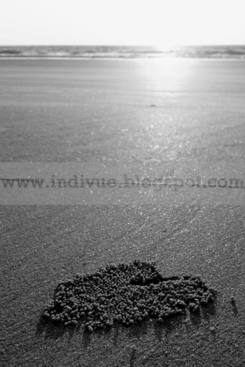 Love symbol on Goa Beach