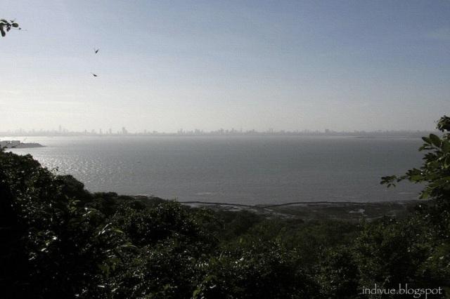 Mumbai seen from Elephanta Caves