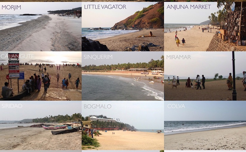 All the beaches and hotels of Goa (updated in 1/2020)