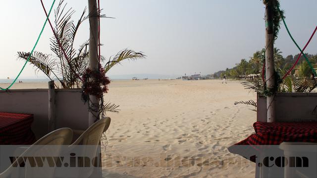 View from a beach shack in Arossim Beach, Goa, India