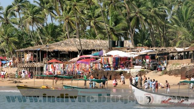 Anjuna Fleamarket Beach, Goa, India