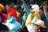 Smurfs in Goa Carnival, India