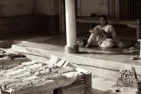 Woman selling jewellery in Gokarn