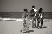 Young couple on Marina Beach, Chennai, India
