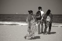 Young couple on Marina Beach, Chennai, India
