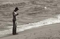 Young man on Marina Beach, Chennai