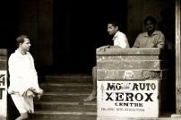 Local people and Xerox centre in Gokarn, India
