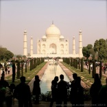 Taj Mahal seen from the photographing point