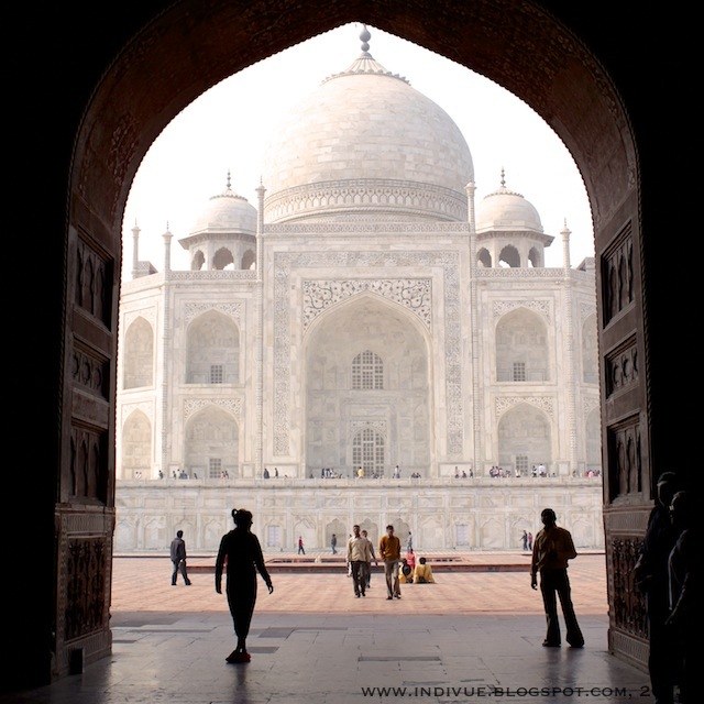 Taj Mahal in India, photographed with an SLR camera in 2011
