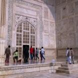 People entering Taj Mahal