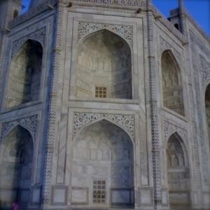 Wall decoration of Taj Mahal