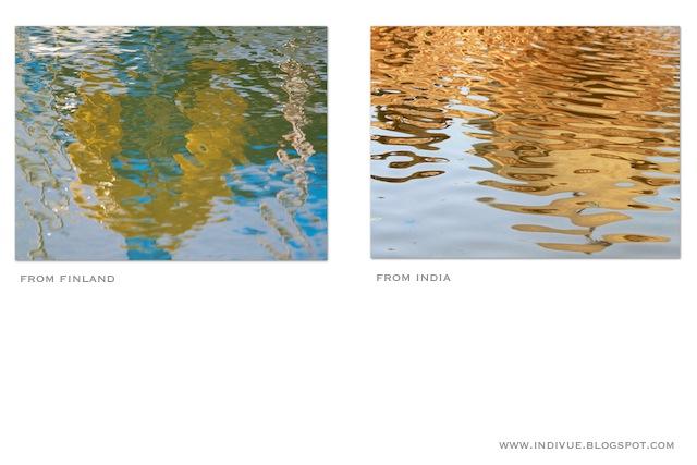 Suomalainen ja intialainen heijastus vedessä - Finnish and Indian reflection in water