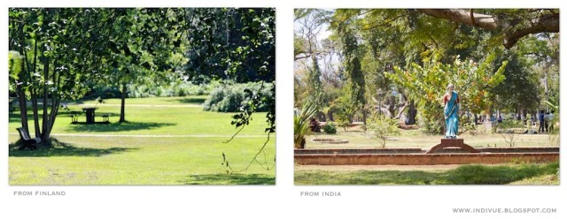 A Finnish park and an Indian park
