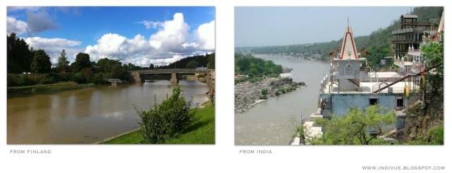 Suomalainen joki ja intialainen joki - Finnish river and Indian river