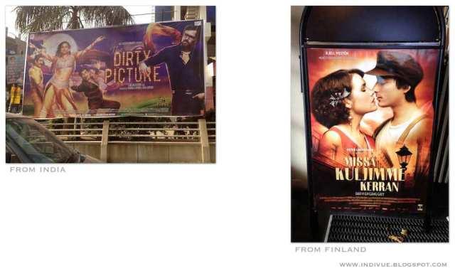 Intialainen elokuvamainos ja suomalainen elokuvamainos - Indian cinema advertising and Finnish cinema advertising