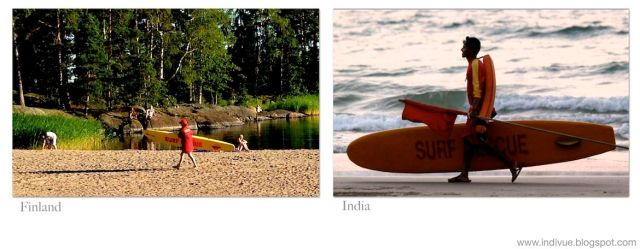 Hengenpelastaja, surf rescue -lauta, Suomessa sekä Intiassa - Lifeguard and a surf rescue -board, in Finland and in India