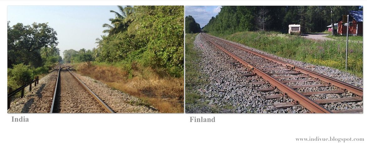 Railways in India and in Finland