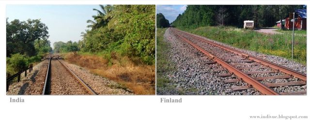 Intialainen rautatie ja suomalainen rautatie - Indian railway and Finnish railway