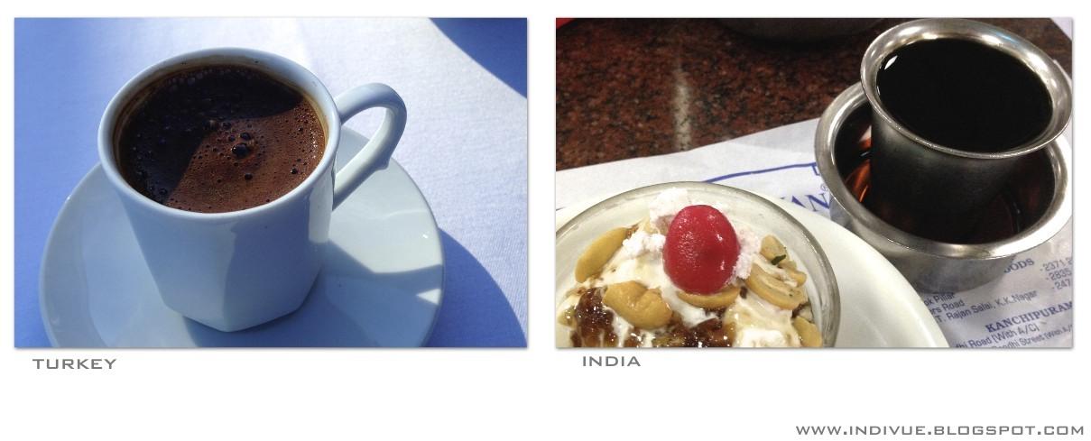 Turkish and Indian coffee