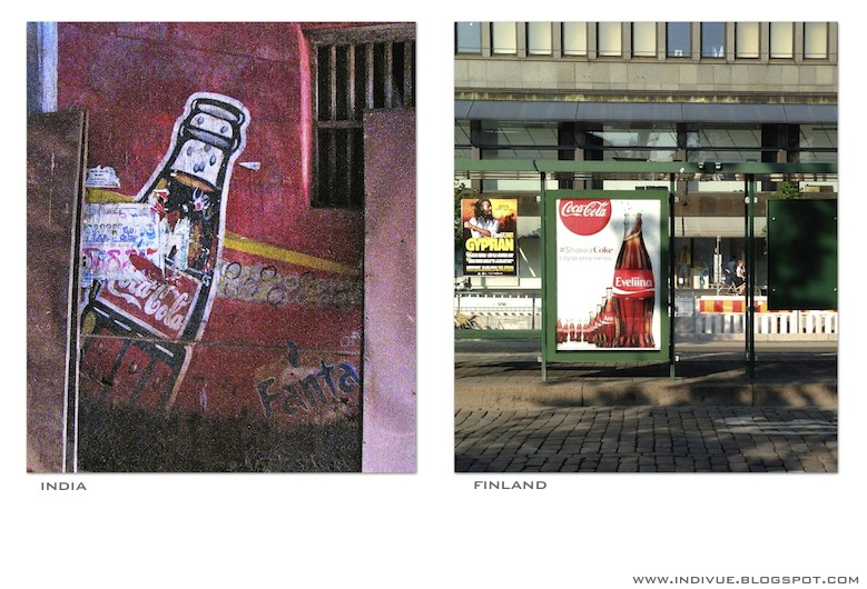 Coca-Cola ads in India and in Finland
