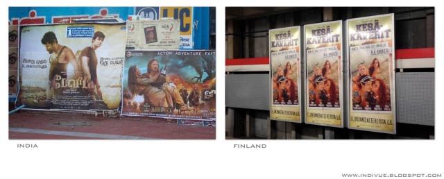 Suomalainen ja intialainen elokuvajuliste - Finnish and Indian movie poster