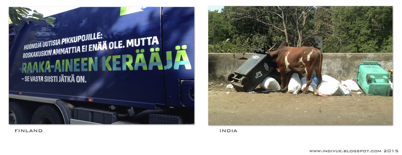 Raw material collectors in Finland and in India