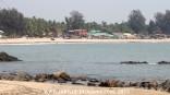 Patnem Beach with the beach shacks in Goa, India