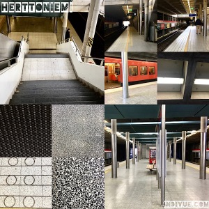 Herttoniemi, Helsinki, metrostation -collage