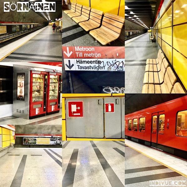 Sörnäinen, Helsinki, metrostation -collage