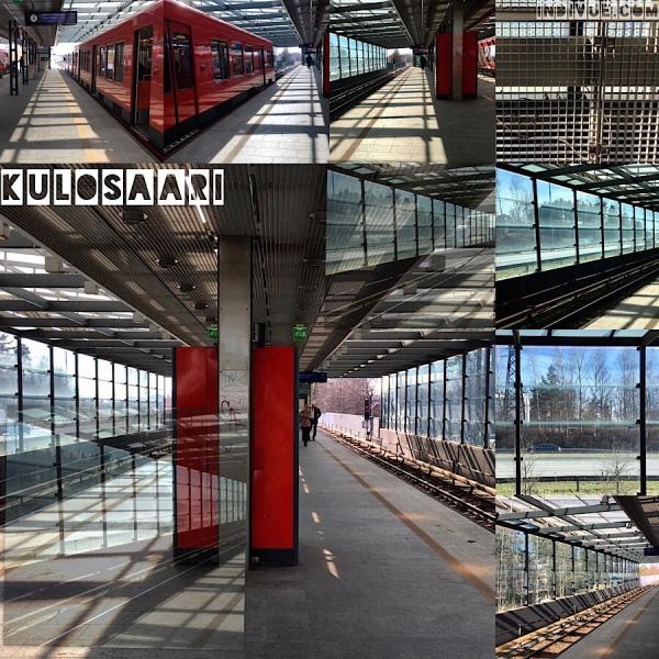 Kulosaari, Helsinki, metrostation -collage