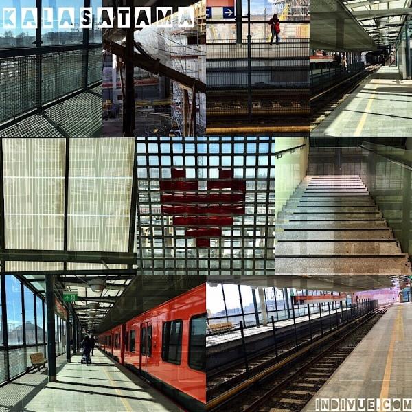 Kalasatama, Helsinki, metrostation -collage