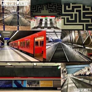 Ruoholahti, Helsinki, metrostation -collage
