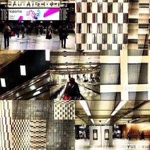 Rautatientori, Helsinki, metrostation -collage