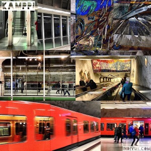 Kamppi, Helsinki, metrostation -collage