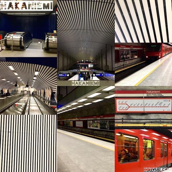 Hakaniemi, Helsinki, metrostation -collage