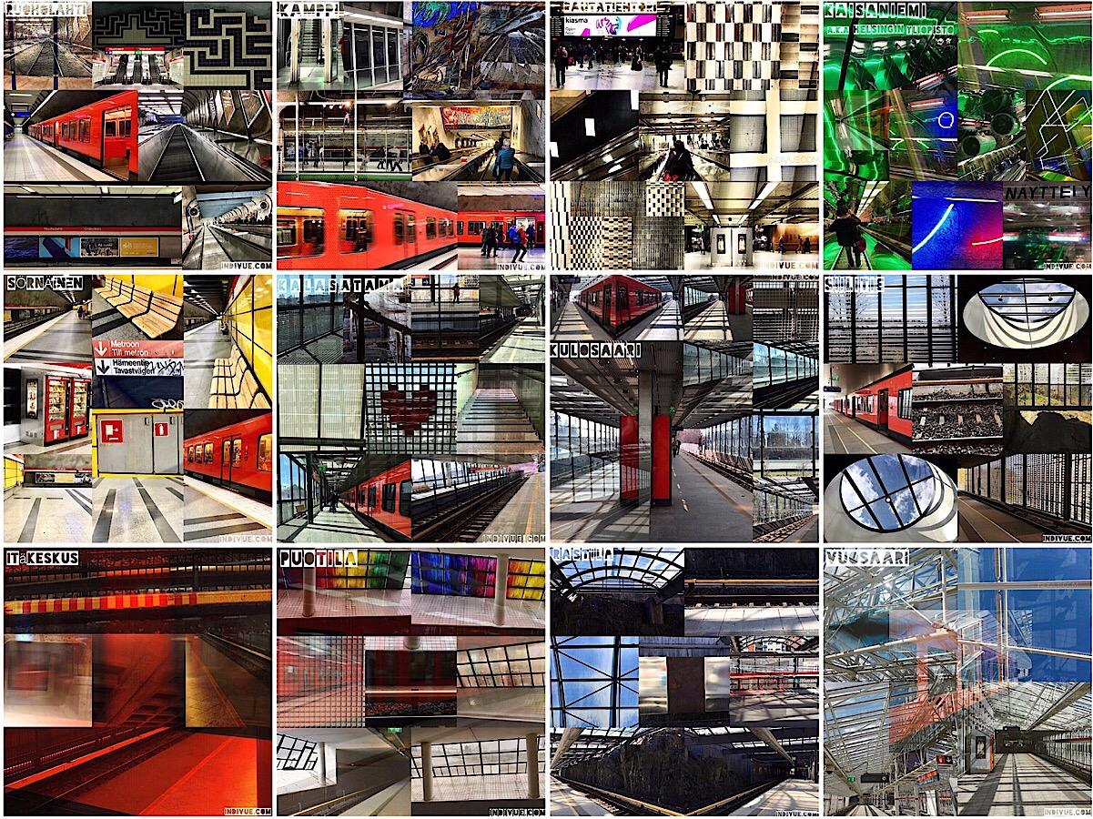 Art of Helsinki metrostations