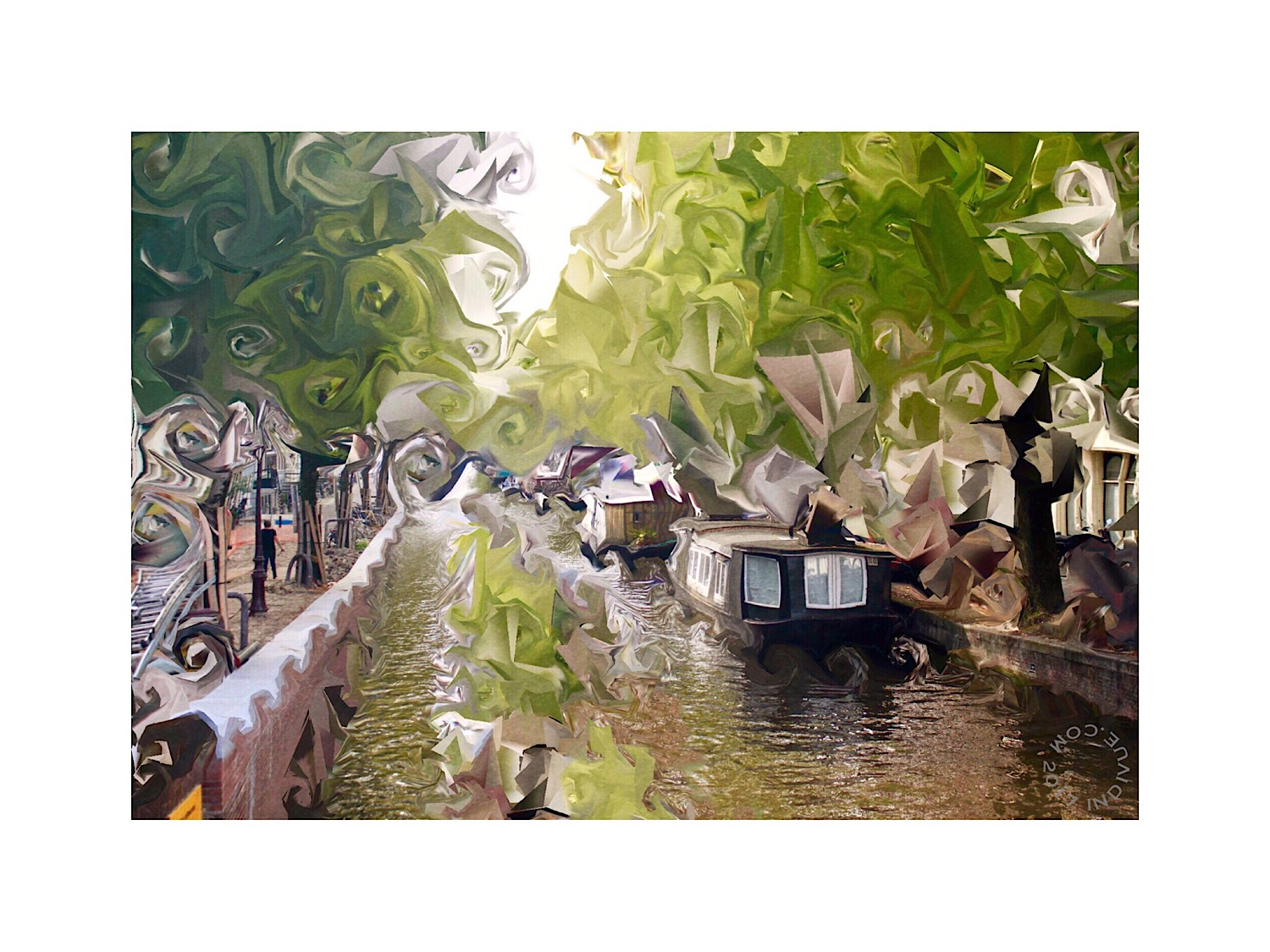 Photopainting inspired by Amsterdam canals