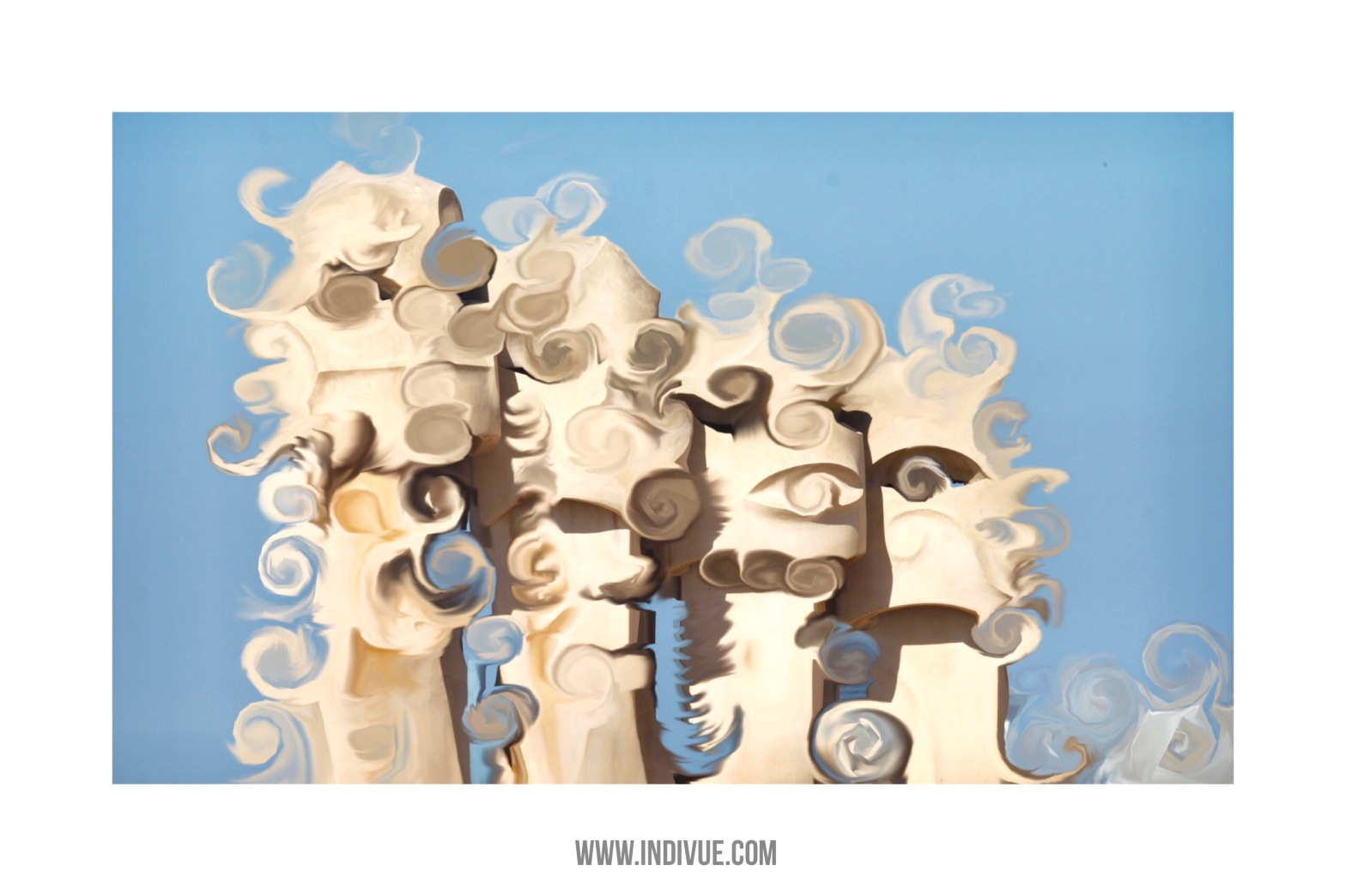 Indivue art inspired by Barcelona