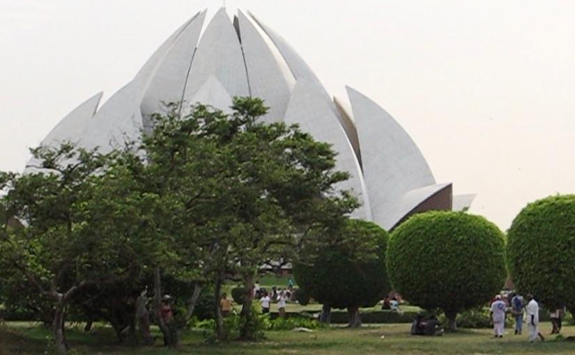 Lotus Temple in Delhi, India, 2007,video