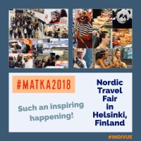 Photographs from the Nordic Travel Fair in Helsinki, Finland, happening now
