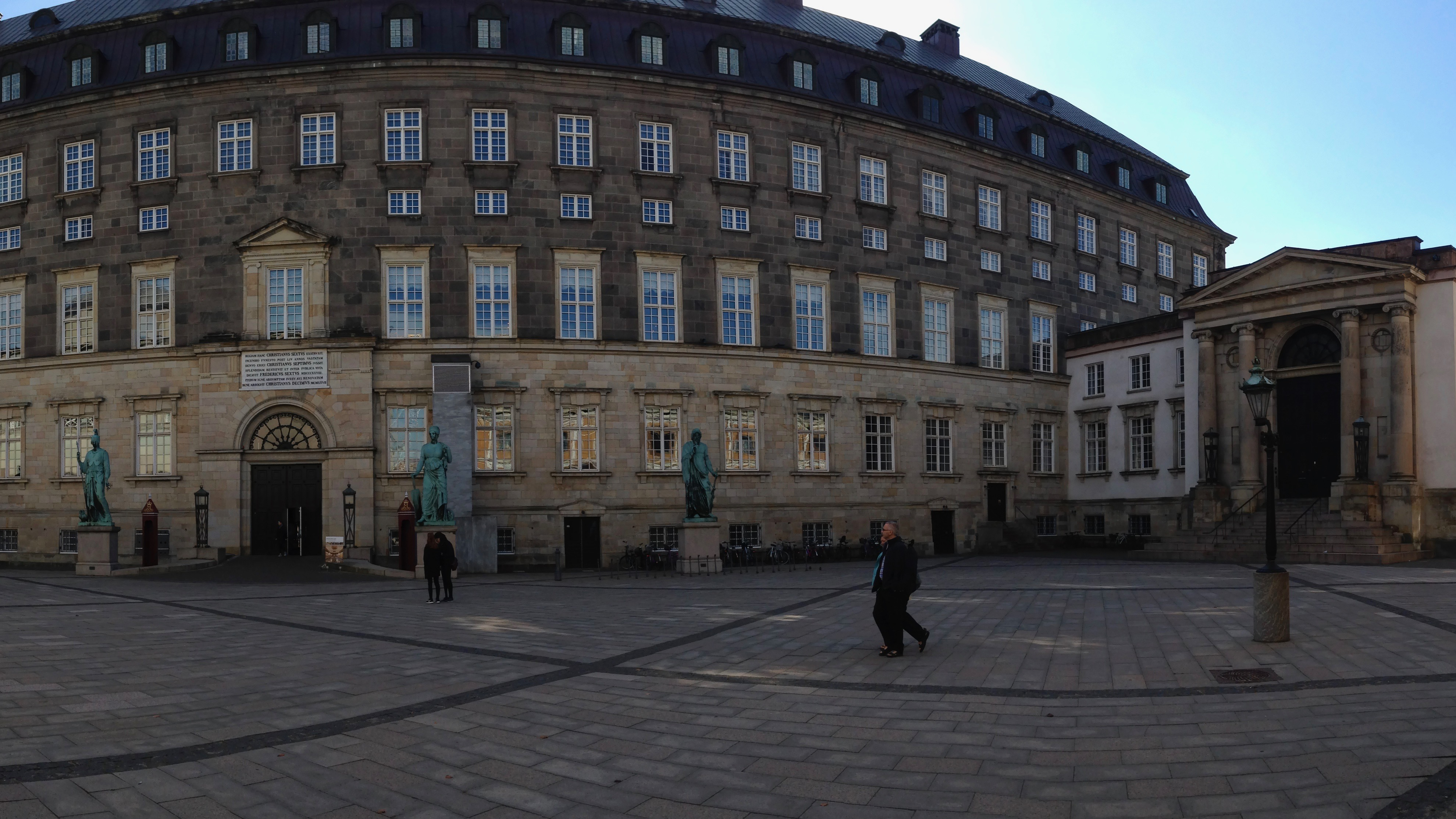 Outside Christiansborg Palace