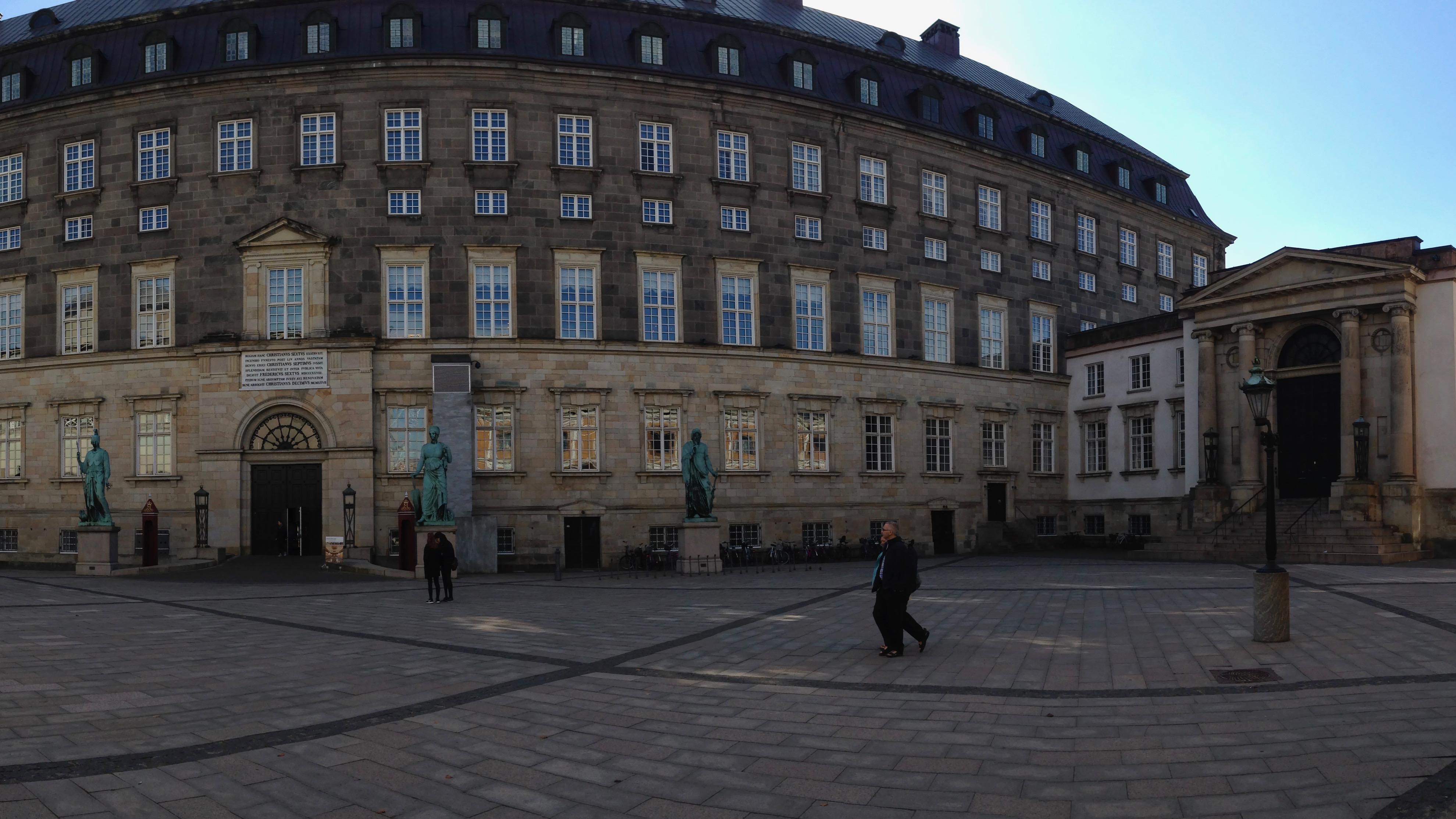 Outside Christiansborg Palace