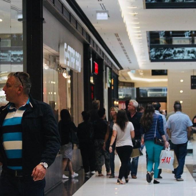 Inside shopping mall in Berlin