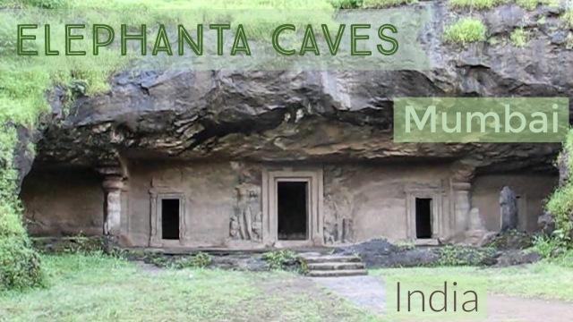 Entrance to Elephanta Caves in Mumbai